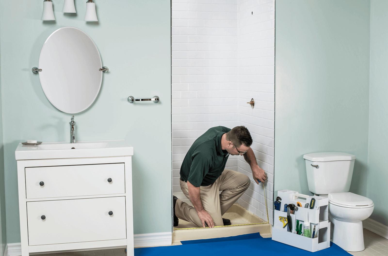 Shower Remodel  Shower Liner Install  Bath Fitter  US