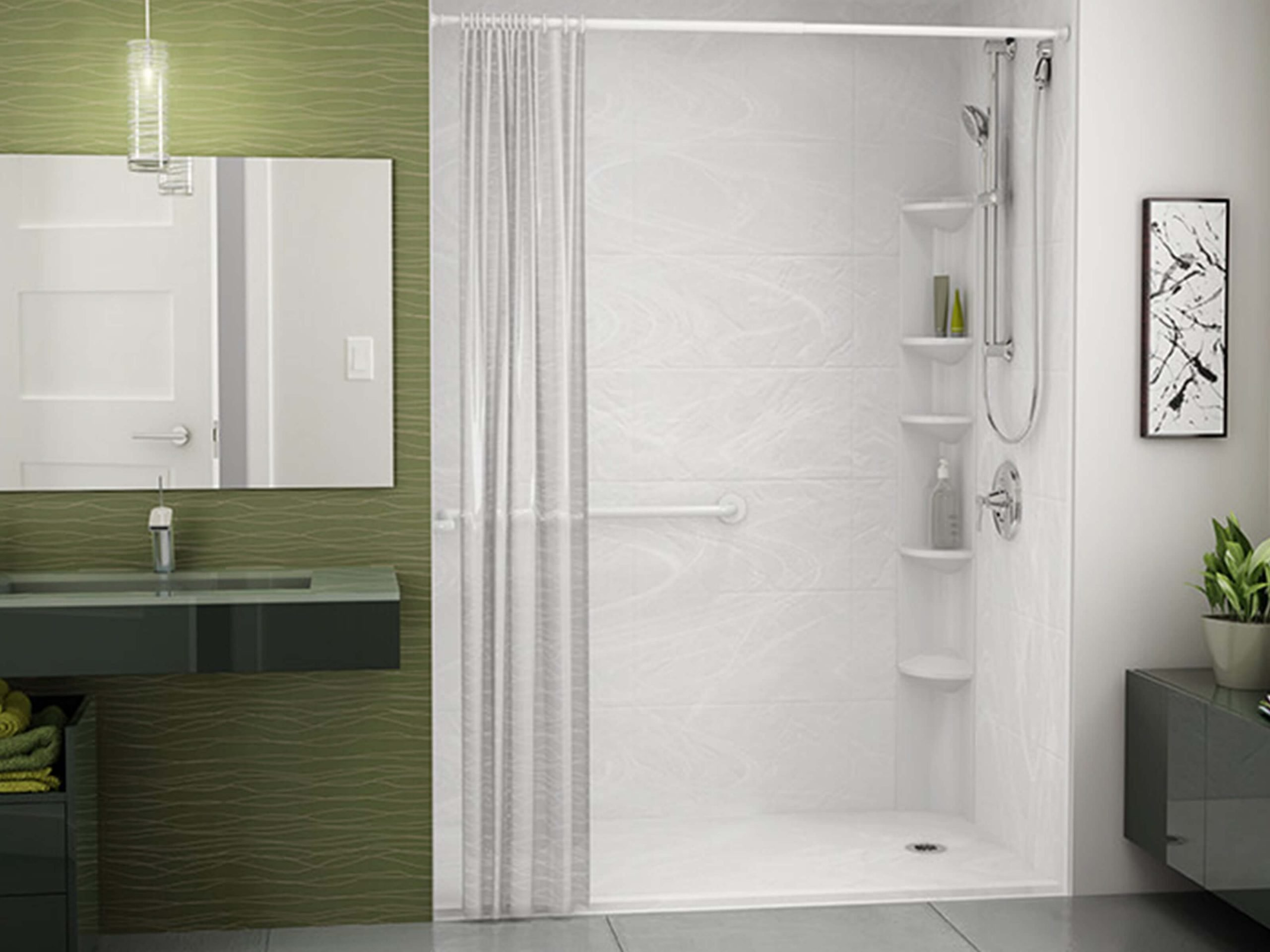 ADA compliant shower solutions.